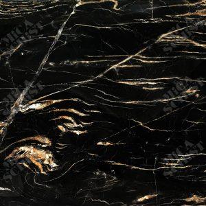 سنگ کوارتزیت مشکی طلایی بلودر Belvedere