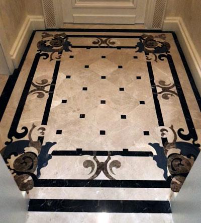طرح قالیچه کف سنگ خارجی